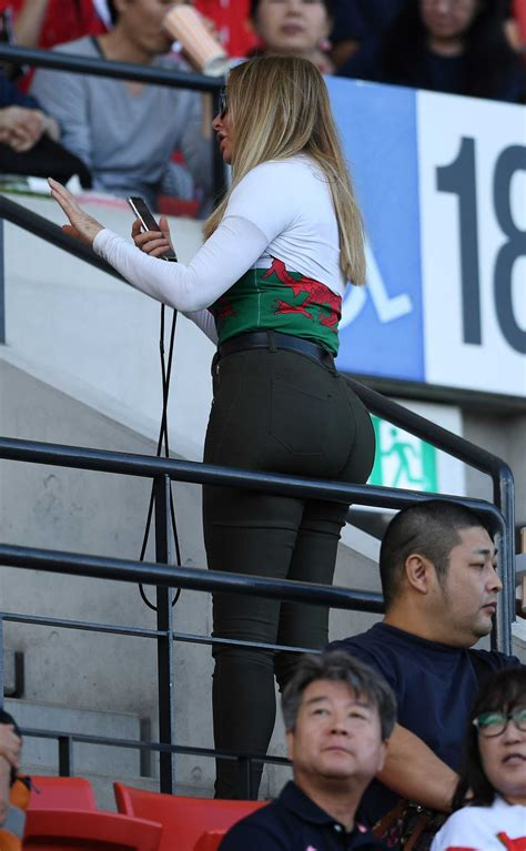 Carol Vorderman in a Black Pants Attends the Rugby World
