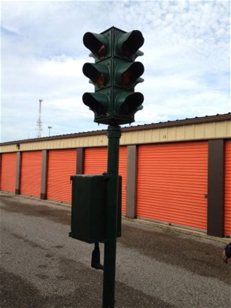 Antique Four / Way Street Intersection Traffic Light