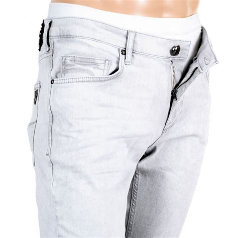 Light Grey Slim Fit Jeans from Versace at Niro Fashion