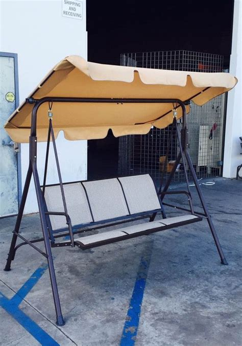 New in box 3 seats swing patio hanging outdoor rocking