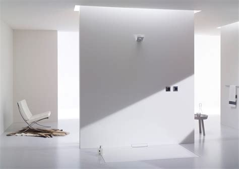 Flush fitting enamelled steel shower tray XETIS by