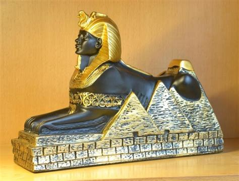 Resin Ancient Egyptian Gold Sphinx Ruins Model Small