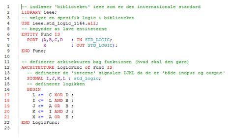 code - 'Errors' using the minted VHDL environment - TeX