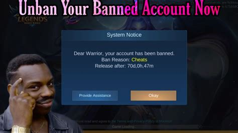 Script To Unban The Banned Accounts In Mobile Legends