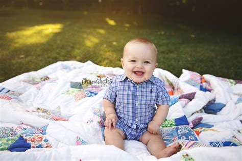 6 Month Old Baby Boy and Family Photography Session with