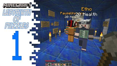 Minecraft Labyrinth Of Puzzles - Poor Etho - YouTube