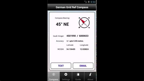 German Grid Ref Compass app for Android - YouTube