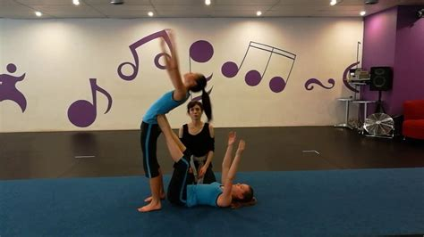 Assisted back walkover - YouTube
