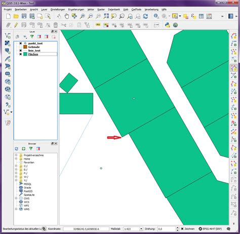How to select lines/polygons in QGIS CAD tool