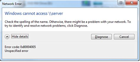 Windows 7 - Can't access UNC Shares but can Ping and RDP