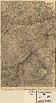 Topographical map of the Bull Run battle-field