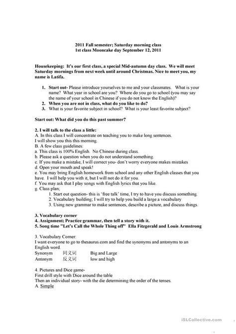 Introduce yourself class worksheet - Free ESL printable