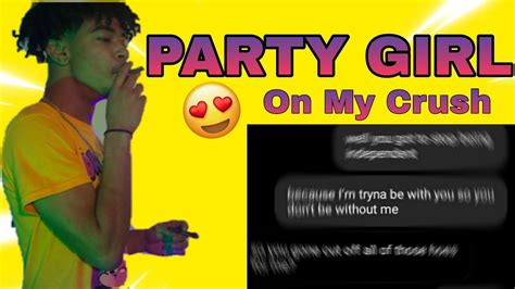 STAY SOLID ROCKY 'PARTY GIRL' LYRIC PRANK ON MY CRUSH