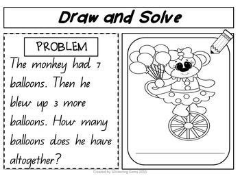 Addition and Subtraction Word Problems for Kindergarten in