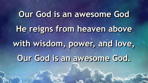 Our God Is An Awesome God, Instrumental with lyrics Chords